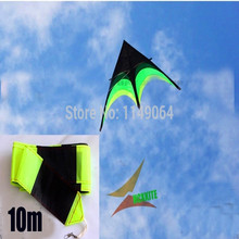 free shipping high quality large delta kite prairie kite toys with10m tails handle line outdoor flying hcxkite rod ripstop wei