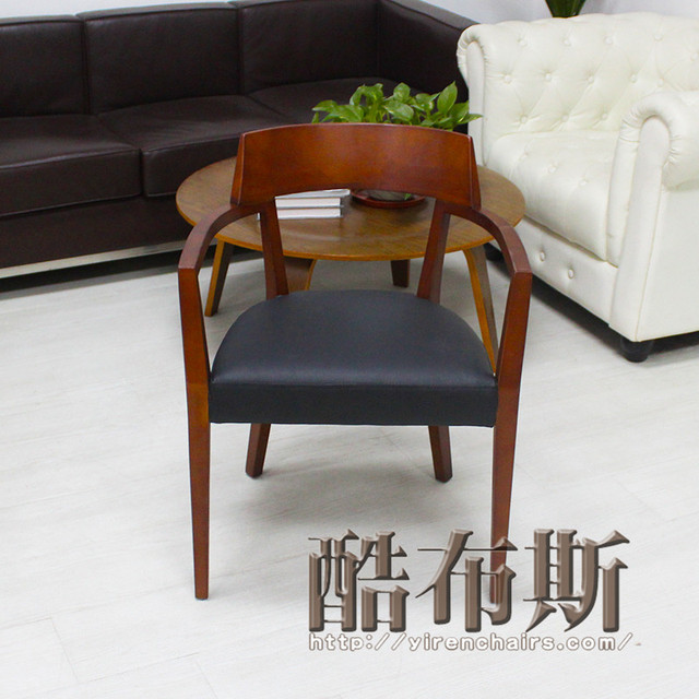Cool Booth European Minimalist Wood Chair Industrial Designer Lounge Chair  Chairs Comfortable Chair Upscale Restaurant Chairs