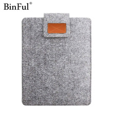 BinFul 9.7 11 12 13 15 17 inch Wool Felt Laptop Sleeve Bag Case Protection Cover Soft Liner Computer Cover For Man Women Student