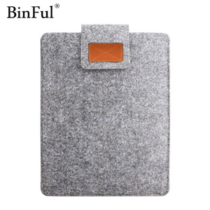 Image 1 - BinFul 9.7 11 12 13 15 17 inch Wool Felt Laptop Sleeve Bag Case Protection Cover Soft Liner Computer Cover For Man Women Student
