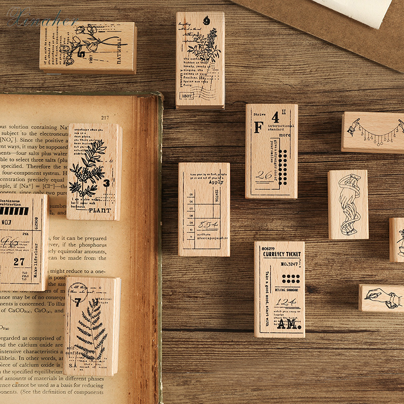 XINAHER Beautiful Plants Flower Gesture Stamp DIY Wooden Rubber Stamps For Scrapbooking Stationery Scrapbooking Standard Stamp