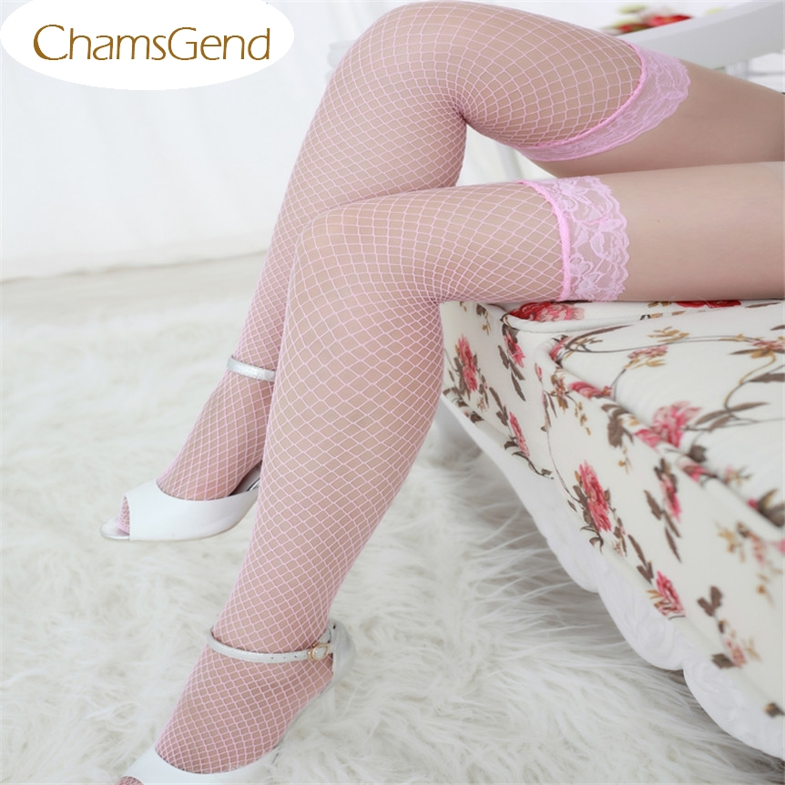 Free Shipping Fashion Sexy Lingerie Woman Ladies Lace Fishnet Thigh High Stockings 80511