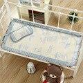Berço do bebê Forro Capa Almofada De Palha De Linho Mat para Carrinho De Bebé Do Berçário Do Bebê berço Cama Conjunto Travesseiro Verão Fresco Tapete de Carrinho De Bebê almofada