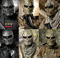 Multicam Dark Night Ghost Camouflage Tactical Military Army Paintball Balaclava Airsoft Skull Halloween Protect Full Face Masks