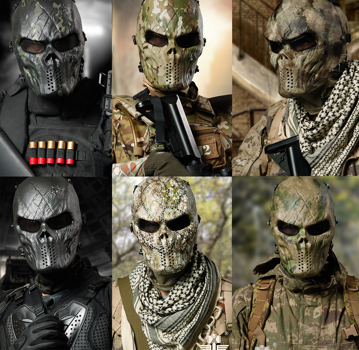 Skull Face Mask Military Promotion-Shop for Promotional Skull Face ...