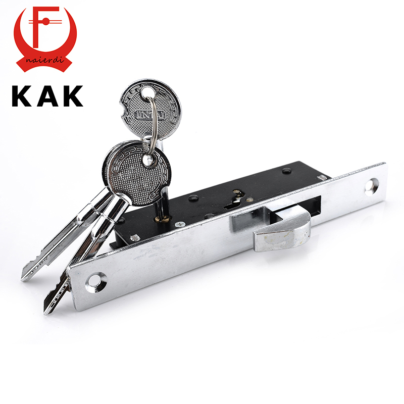 KAK Sliding Door Lock Zinc Alloy Window Locks Anti-Theft Safety Wood Gate Floor Lock With Cross Keys For Furniture Hardware ospon sliding door locks invisible door