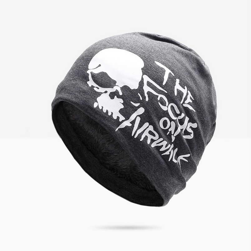NUZADA kış şapka erkekler kadınlar için Skullies bere şapka Hedging kap erkek artı kabartmak çift katmanlı kumaş sıcak kışlık şapkalar kasketleri