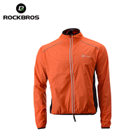 ROCKBROS Running Jacket Windproof Vest Cycling Sports Raincoat Jersey Hiking Rainproof UV Protection Quick Dry Coat