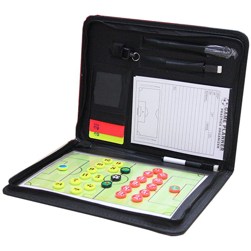 Zipper 4 In 1 Soccer Board Magnetic Coach Basketball Handball Volleyball Tactical Board Coaching Game Tactic Strategy Clipboard