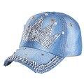 Alta qualidade cap criança chapéus mais recente projeto de strass coroa menino meninas miúdos crianças boné de beisebol marca snapback tampas nova moda