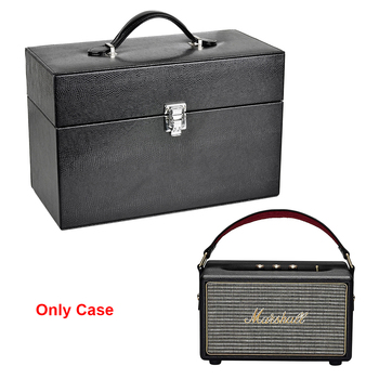 2019 New Hard Portable PU Leather Box Cover Case for Marshall Kilburn Portable Bluetooth Speaker Extra Space for Plug & Cables