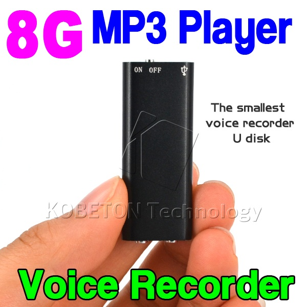 Mini 3 в 1 стерео MP3 плеера 8 ГБ памяти USB Flash Drive Мини Цифровой Аудио Голос Регистраторы ручка диктофон