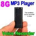 Mini 3 em 1 Stereo MP3 Music Player 8 GB de Memória armazenamento USB Flash Drive Mini Digital Audio Gravador de Voz Pen ditafone