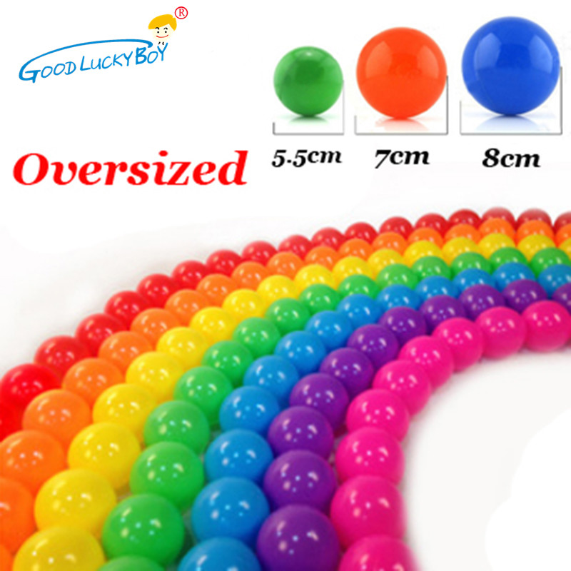 50/100 Pcs Oversized Eco-Friendly Colorful Soft Plastic Water Pool Ocean Wave Ball Baby Funny Toys Outdoor Fun Sports 5.5/7/8 Cm