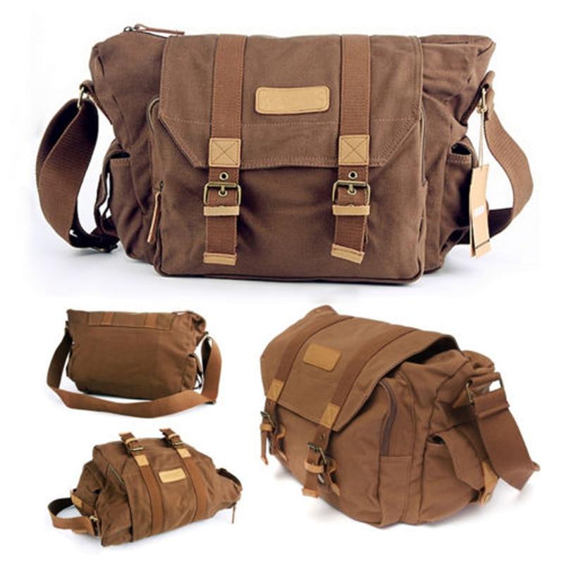 1pc Durable Outdoor Camera Bag Waterproof Cameras Vintage Shoulder Messenger Single Shoulder Backpack Bags For DSLR Camera