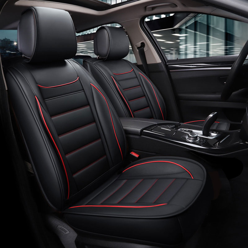 Leather Car Seat Covers Waterproof Mat Auto Cushion Car