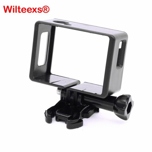 Selteexs capa protetora para câmera, acessórios de proteção, borda, suporte de carcaça, para sjcam sj4000, esportes action cam
