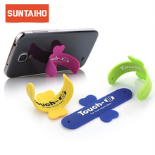 10 teile/los Mini Touch U One Touch Silikon Stand Finger Ringe Universal Tragbare Telefon Halter Für iPhone 6 5s 7 Samsung Tablet PC