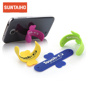 Image 1 - 10Pcs/Lot Mini Touch U One Touch Silicone Stand Finger Rings Universal Portable Phone Holder For iPhone 6 5s 7 Samsung Tablet PC