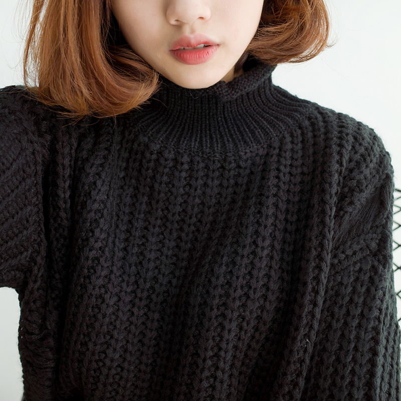 Japanese Style Harajuku 2018 Pullover Women Sweaters Winter Coats Ugly Korean Solid Color Vintage Knitted Oversized Sweater