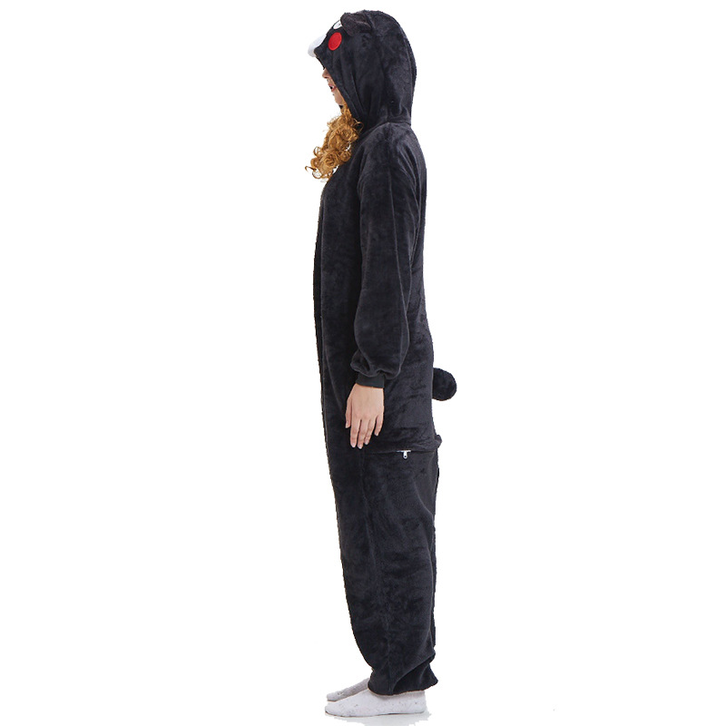 Kigurumi Kumamon Bear Pajama Adult Animal Onesies For Women Men Couple Winter Pajamas Kegurumi Sleepwear Flannel Pijamas Pyjama