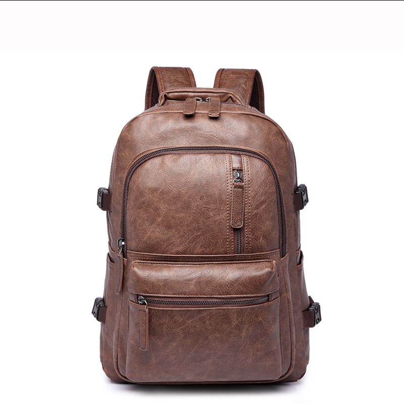 (B8830)2016 Vintage quality PU leather men women backpack, two kinds of color , suitable for mochila or shopping bag