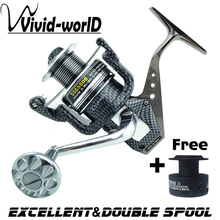 LIEYUWANG Brand High quality Full Metal sturdy Fishing reel 12 BB 5.5:1 High speed Mix drag 15kg/32lb Spinning reel Rod Combo