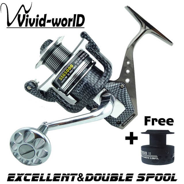 LIEYUWANG Brand High quality Full Metal sturdy Fishing reel 12 BB 5.5:1 High speed Mix drag 15kg/32lb Spinning reel Rod Combo
