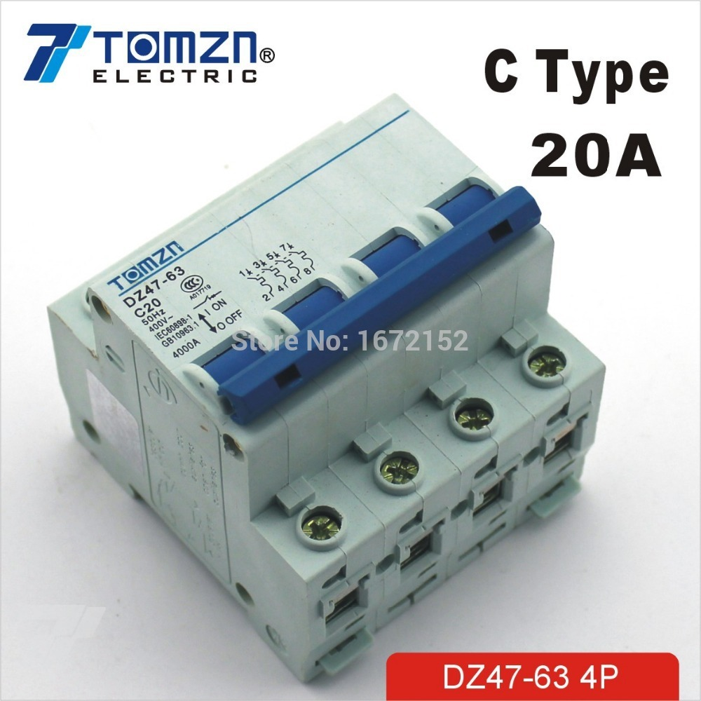 4P 20A 240V/415V Circuit breaker MCB C TYPE 4 Poles кукла bjd dc doll chateau 6 bjd sd doll zora soom volks