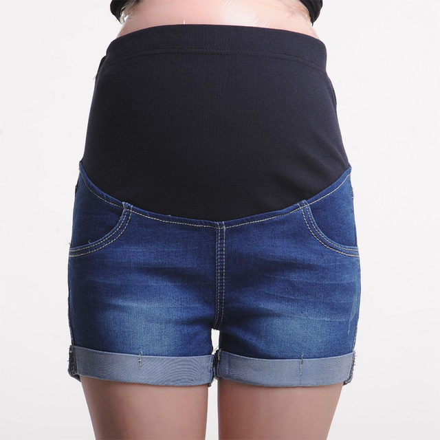 Summer Maternity Short Pregnant Denim Jean Mommy Clothing Pregnancy Jeans Maternity clothes