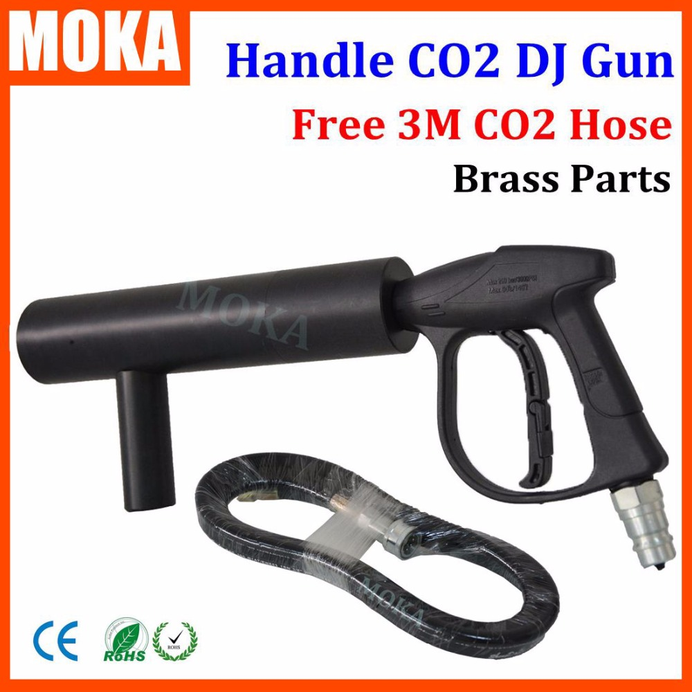 Nouveau co2 jet machine moka mini Pistolet co2 dj gun Poignée co2 gun FX machine à effet de scène pour dj club avec 3 M Tuyau