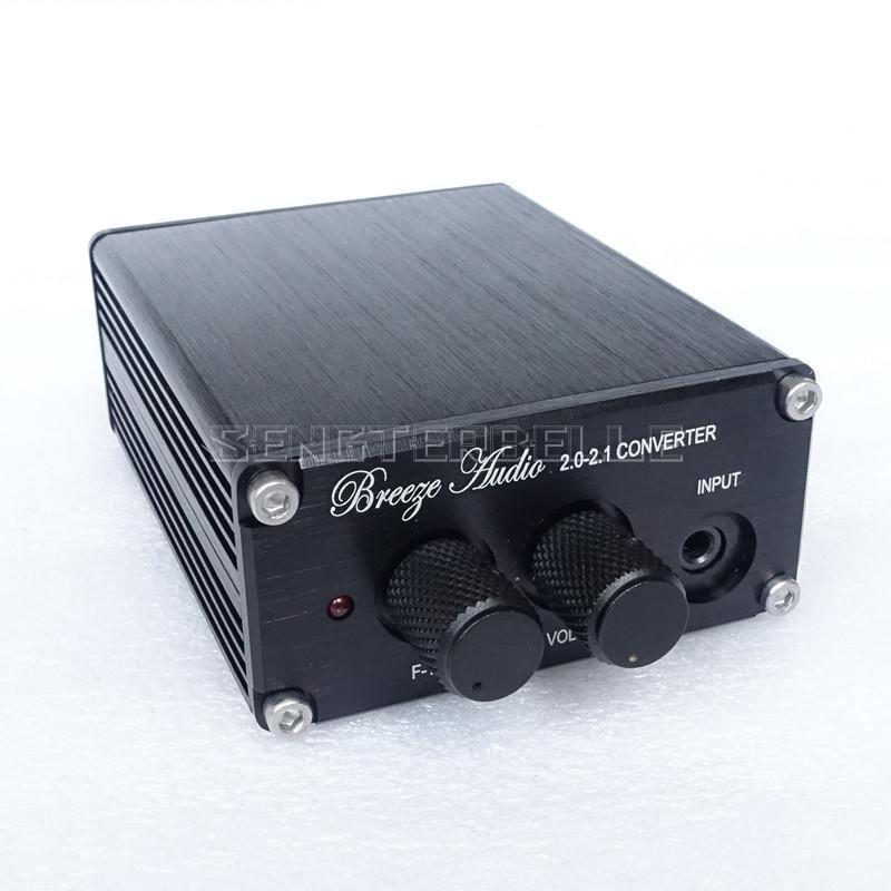 Готовый предварительный мини-усилитель B1, преобразователь 2,0-2,1, профессиональный Предварительный усилитель, подходящий сабвуфер, низкочас...