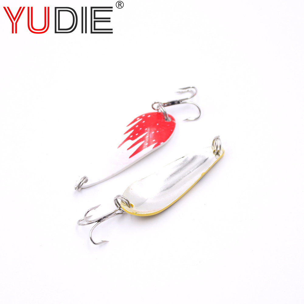 1Pcs Metal VIB Fishing Trout Spoon 4cm 6g Artificial Casting VIB Hard Bait 10 Color Crank Wobblers Spinner Bait Fishing Tool 1pc rugged plastic fish bait casting scoop spoon for food particle fishing tool
