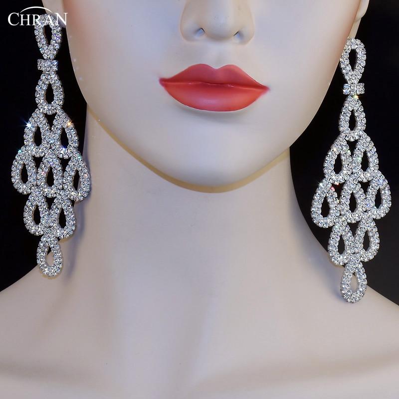 CHRAN Luxury Sparkling Crystal Rhinestone Teardrop Shape