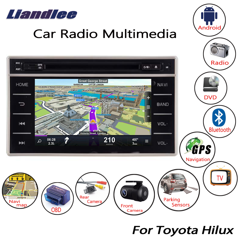 Liandlee For Toyota Hilux 2015~2018 Android Car Radio CD DVD Player GPS Navi Navigation Maps Camera OBD TV HD Screen Multimedia liandlee for ford edge 2011 2014 wince car radio cd dvd player gps navi navigation maps camera obd tv screen multimedia