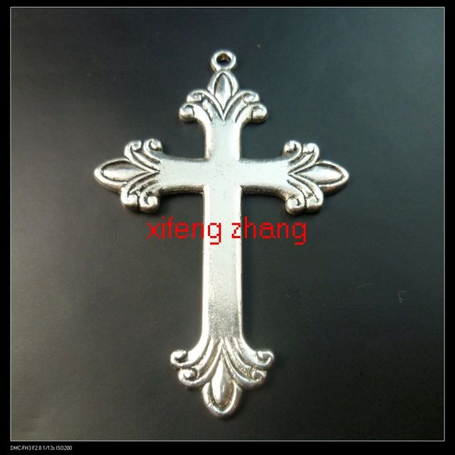 30 pcs/lot tibet silver zinc alloy charms Free shipping(cross) wholesale