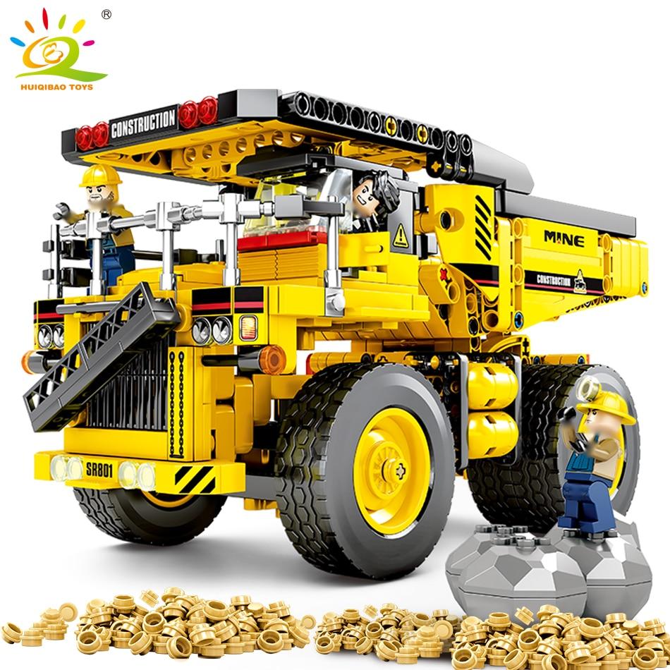 807 pièces camion à benne basculante blocs de Construction compatible legoing Technic benne voiture ingénierie ville Construction briques jouets pour enfants