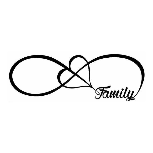 Famille amour coeur pour toujours symbole pvc d calque de fen tre de voiture autocollant de - Symbole representant la famille ...