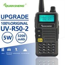 Iluminación led en UV R50 2 actualización móvil Walkie Talkie Vhf Uhf Radio de banda Dual Comunicador transceptor Hf escáner Baofeng Uv 5r similares