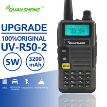Quansheng UV R50 2 aktualizacji mobilny samochód Walkie Talkie Vhf Uhf Dual Band Radio Comunicador Transceiver Hf skaner Baofeng Uv 5r podobne