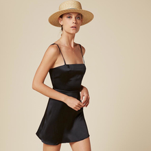 Summer Dress 2017 Vintage Women Casual Slip Cami Beach Dresses Spaghetti Strap Sun Mini Silk Satin Skater Party Dress
