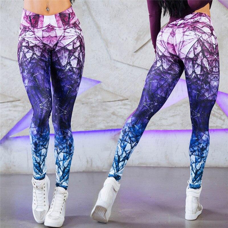 Sexy 2018 Mode Mode Frauen Sexy Heißer Verkauf Neue Neuheit 3D Gedruckt Leggings Raum Galaxy Tie Dye Fitness Schwarz Milch hose
