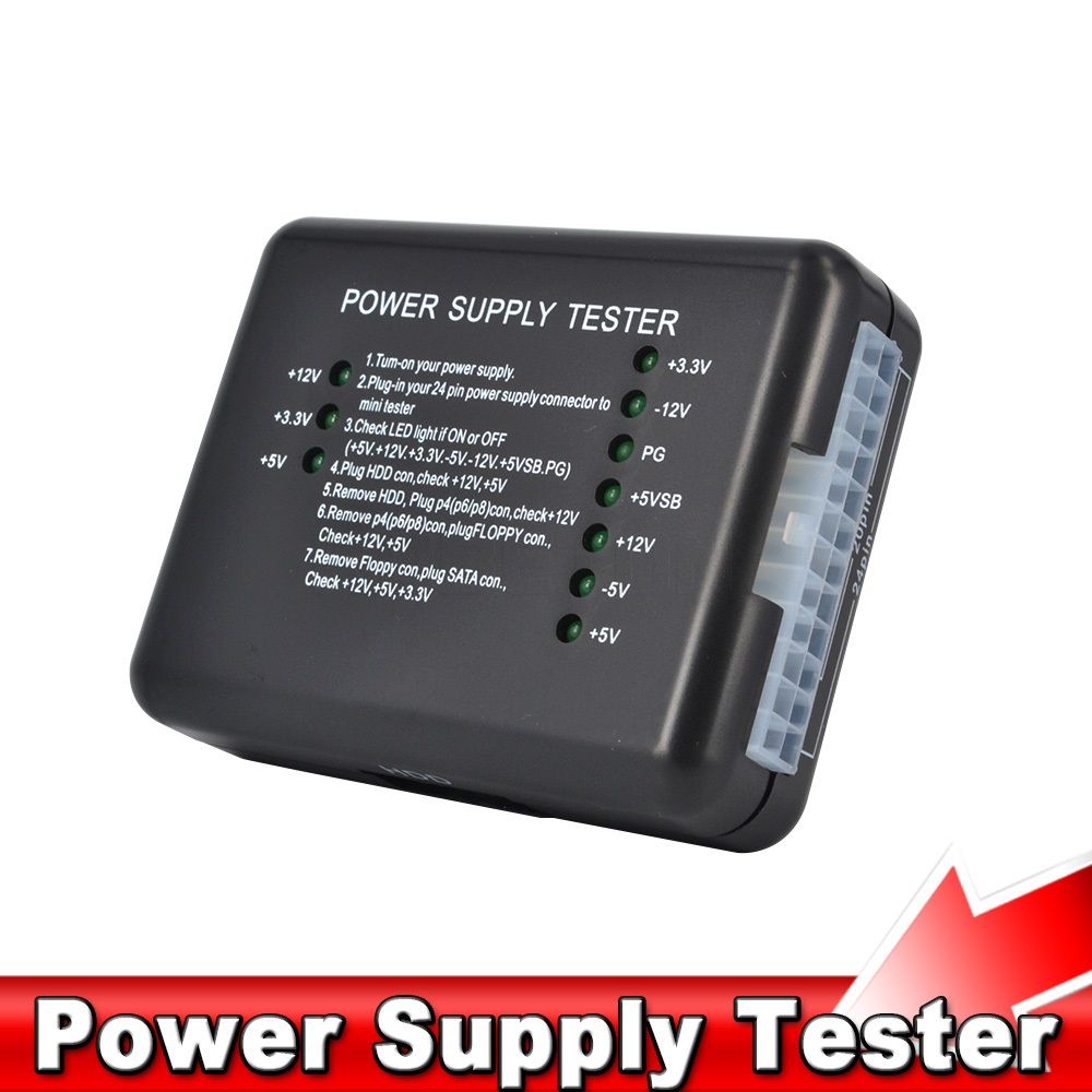 Power Tool Tester : Pc computer atx sata hdd power supply tester led