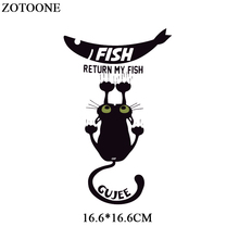 Parches Cartoon Cat Heat Transfer Vinyl for T-Shirts Iron On Transfers Patches For Clothing Thermal Transfer Sticker Washable E parches cartoon cat heat transfer vinyl for t shirts iron on transfers patches for clothing thermal transfer sticker washable e