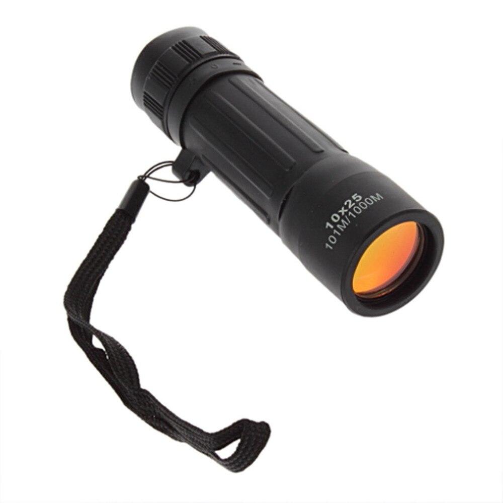 Lichtgewicht Pocket Focus Zoom Monoculaire Telescoop 10x25 Hiking Jacht Camping Outdoor Sport Travel Handig Scope met draagtasje