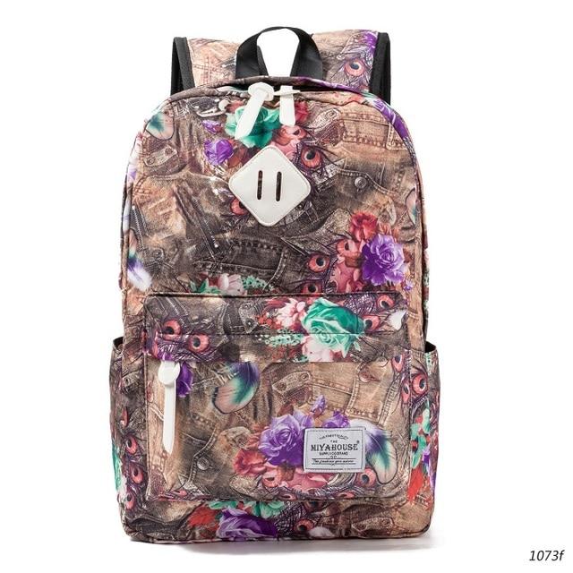 Floral Print Bookbags