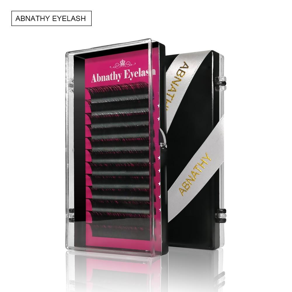 Abnathy Lash design1 baru Case All Size C D ikal ekstensi bulu mata mink hitam palsu bulu mata palsu menekuk