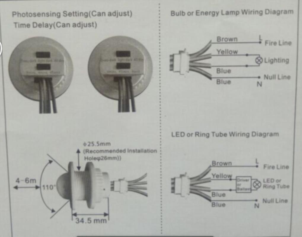 Ac Ir Infrared Motion Sensor Led Light Automatic Corridor Detector Circuit Night Lights Intelligent Switch Control