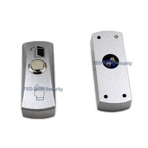 Image 1 - 도어 출구 버튼 푸시 릴리스 합금 플레이트 스틸 버튼 스위치 표면 장착 12 v 36 v 모든 종류의 좁은 도어 프레임 용
