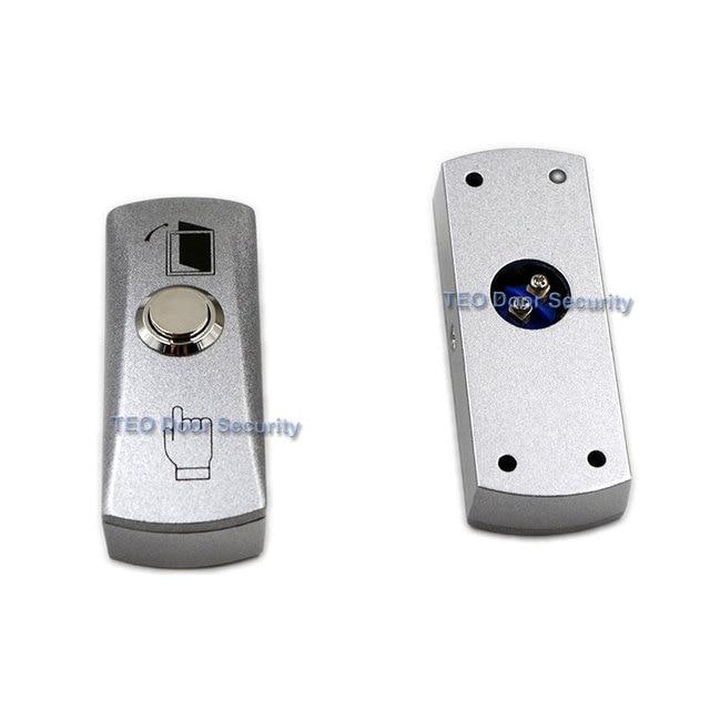 도어 출구 버튼 푸시 릴리스 합금 플레이트 스틸 버튼 스위치 표면 장착 12 v 36 v 모든 종류의 좁은 도어 프레임 용
